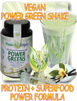 Power greens - Vegan protein + superfood (vaniglia) 10