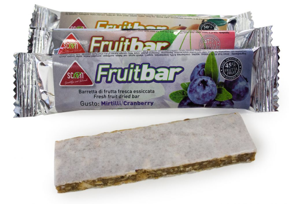 Scen Fruit bar 40% Mirtillo, box36pz 1